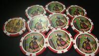 #10 CURRIER & IVES The American Firefighter FIREMAN Poker Chip Golf Ball Marker