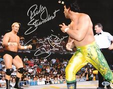 Stone Cold Steve Austin & Ricky Steamboat Signed WWE 11x14 Photo BAS Beckett COA
