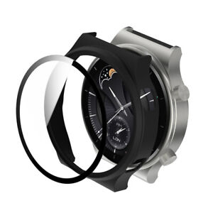 Tempered Glass Screen Protector Full Coverage Watch Case For Huawei GT2 Pro