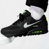 Nike Air Max 90 Mens Black White Volt Yellow Shoe Trainer Sneaker All Sizes