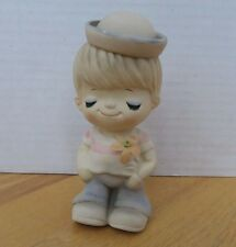Vintage Figurine UCTCI Japanese Stoneware Boy Sailor hat