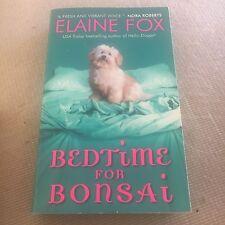 ELAINE FOX. BEDTIME FOR BONSAI. 9780061474644