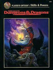 Advanced Dungeons and Dragons Players Option Skills & Powers 2154 TSR