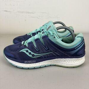Saucony Hurricane ISO Womens Running Shoes Aqua Grey US 9 VGC + Free Postage