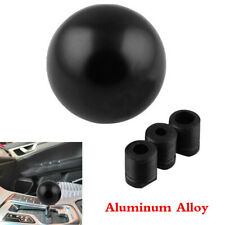 For Manual Transmission Car Aluminum Black Round Gear Knob Shift Car Accessories