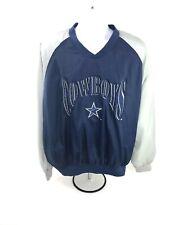 Dallas Cowboys Mens Blue Gray Large Logo 7 Game Day Windbreaker Pullover