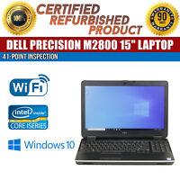"Dell Precision M2800 15.6"" Intel i7 8GB RAM 500GB HDD Win 10 WiFi B Grade Laptop"
