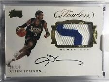 16-17 Panini Flawless Allen Iverson Patch Logo Auto #/10 Sick $ Nasty Sixers Gem