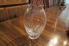 """small glass bud vase 5.5"""" tall weighs 13 oz  (cab)"""