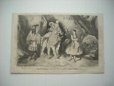 GRAVURE 1859. BOUFFES-PARISIENS. GENEVIEVE DE BRABANT. PAR GUSTAVE DORE.