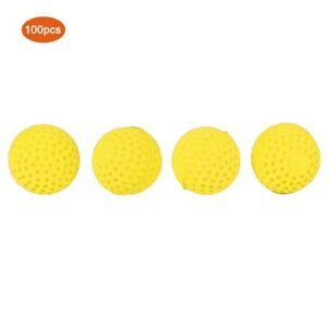 100PCS/ Pack Universal EVA Soft Round Refilled Bullets Ball for Rival Toy Gun