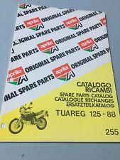 Aprilia catalogue pièces détachées Tuareg 125 1988 chassis parts list