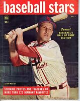 1949 Dell Baseball Stars magazine, Stan Musial, St. Louis Cardinals ~ Good