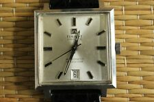 NICE VINTAGE TISSOT SEASTAR VISODATE SILVER DIAL STAINLESS CASE WATCH & BOX SET