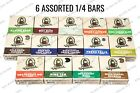 DR SQUATCH Soap Samples (6) 1/4 Bars - LARGER - FREE SAME DAY SHIP 12PM USA