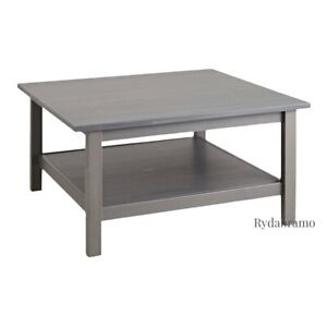 """IKEA HEMNES Coffee Table, Gray stained, Solid Pine, 35⅜""""×35⅜"""" BRAND NEW"""