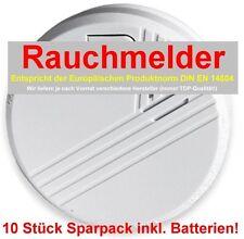 10 Stück Set nach DIN EN14604 geprüfte Premium Rauchmelder inklusive Batterien