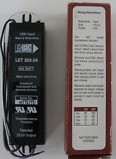 Lightech Electronic  AC Transformer Let 303-24 Dimmable  24V 300W  NEW / NOS