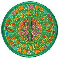 Peace Frieden-Symbol Mandala Yoga Goa Zeichen Aufnäher Patch Bügelbild Aufbügler