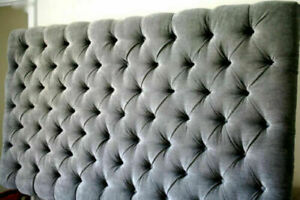 """TOP QUALITY  LUXURY Buttoned COLCHESTER  BED HEADBOARD IN CHENILLE IN TALL 30"""""""