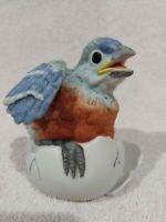 Vintage 1990 Baby Bluebird Hatchling Figurine Andrea by Sadek Japan #8629 Japan
