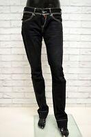Pantalone GURU Donna Taglia Size 28 Jeans Pants Woman Beige Cotone Nero Regular