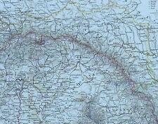 1875 MAP AUSTRIAN HUNGARIAN MONARCHY BOSNIA SERBIA WALLACHIA VIENNA BAVARIA