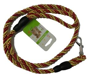 Braid Weave Rounded Pet Dog Double Strand Traction Rope Lead Leashes Metal Hook