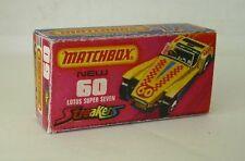 Repro Box Matchbox Superfast Nr.60 Lotus Super Seven Streaker