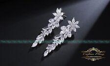 Ohrhänger XL Luxury Ohrringe Zirkonia AAA Swarovski Kristalle STELLUX™ Weissgol