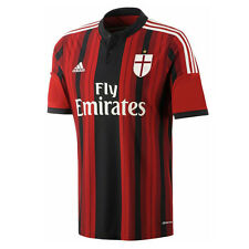 Ac Milan Adidas Maillot shirt Rouge Noir 2014 15 Home Homme S/s S