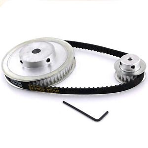 CNC Machine XL 60 20 Teeth Timing Pulley Belt Set Kit Reducer Ratio 3:1