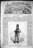 Antique Old Print 1866 Thomas Wilson Proprietor Sporting House Spotted Dog 19th