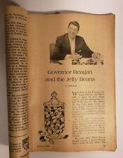Reagan & Jelly Beans in Vintage booklet Prevention Magazine 1968 Volume 20 # 8