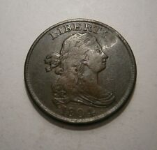 1804 Draped Bust Half Cent Crosslet 4, w/Stems Nice Coin You Grade #18-187