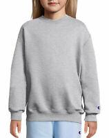 Champion Sweatshirt Kid Double Dry Action Fleece Girls Boys Athletic Heavyweight