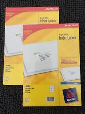Avery Bright White Ink Jet Labels J8165 8 Labels Per Sheet 40 Sheets Per Pack