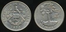 Guatemala, Republic, 1970 5 Centavos (Large date) - Uncirculated