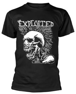 The Exploited 'Mohican Skull' T-Shirt - NEW & OFFICIAL!