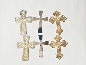 Cross Symbols Religious Papercraft Embellishments Scrapbooking Card Topper Craft