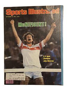 JOHN MCENROE SPORTS ILLUSTRATED   SEPTEMBER 15 1980 Tennis Bagged/Boarded