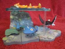Pokemon Figure-Sea-Diorama-Set:Zukan/Floatzel/Mantine/Manaphy/3Parts/Yujin/Tomy