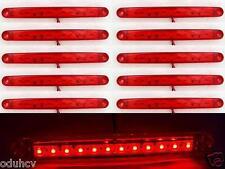 10x 24V Red Rear 12 LED Side Marker Lights Lamp for Truck Trailer SCANIA DAF MAN
