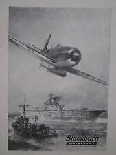 3/1946 PUB BLACKBURN FIREBRAND IV TORPEDO ROYAL NAVY HMS PORTE-AVIONS AD