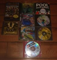 Lot Of 10 PC Cd Rom Computer Games Some Very Interesting Games fun great games