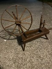 Vintage Antique Wooden Spinning Wheel Planter