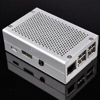 New Silver Aluminum Alloy Case Box Enclosure For Raspberry Pi 3 B+