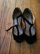 restricted kids black heel shoes size 11