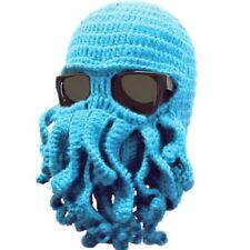 US Winter Warm Ski Hat Tentacle Octopus Cthulhu Knit Beanie Cap Face Head Mask