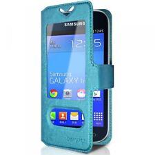 Housse Coque Etui S-view Universel S Couleur Bleu Clair pour Samsung Galaxy Tren